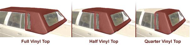 Vinyl Top Sizes